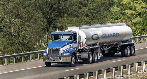 Cistern truck on the motorway
